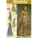 Evening Gown Dress Pattern Long Short 1960s