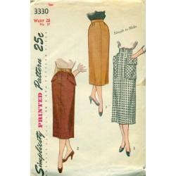 Skirt Sewing Pattern Slim Simple Pencil