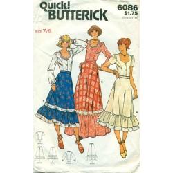 Skirt Blouse Sewing Patten YJT Prairie