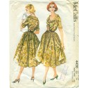 Full Skirt Dress Pattern 1950s McCalls