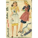 Apron Sewing Pattern 1940s Simplicity