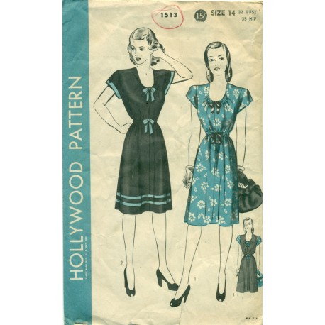 Dress Pattern Hollywood 1513