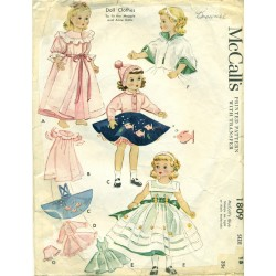 Doll Clothes Pattern 1809