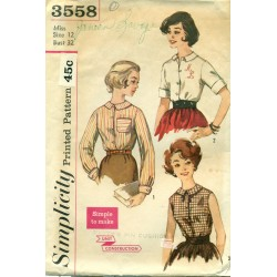Womens Blouse Shirt Pattern 3558