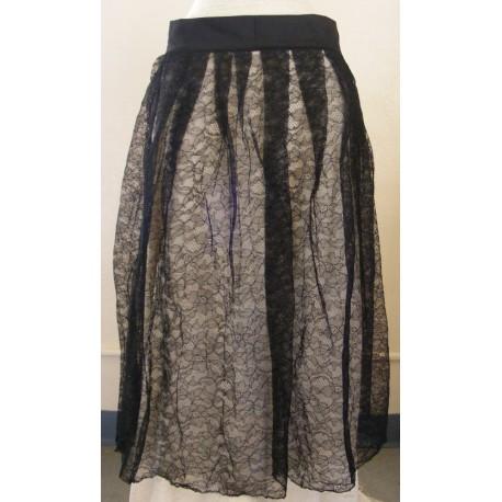 Black Lace Apron Frilly