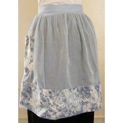 Blue Kitchen Apron Retro 2 Tone