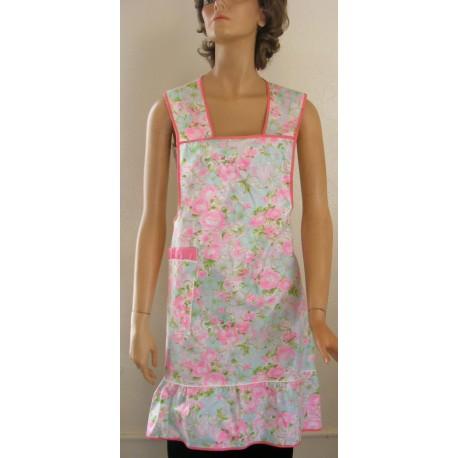 Bib Apron Pink Floral NWT Cotton
