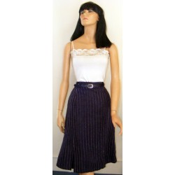 Womens Wool Skirt A Line Blue