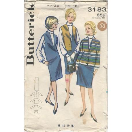 Dress Blouse Jacket Pattern 3183