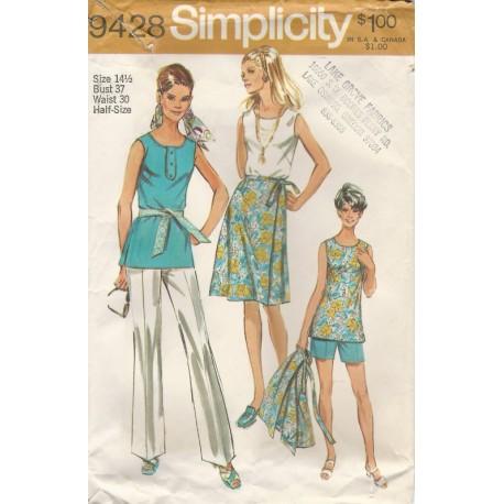 Wrap Skirt Pants Shorts Top 9428