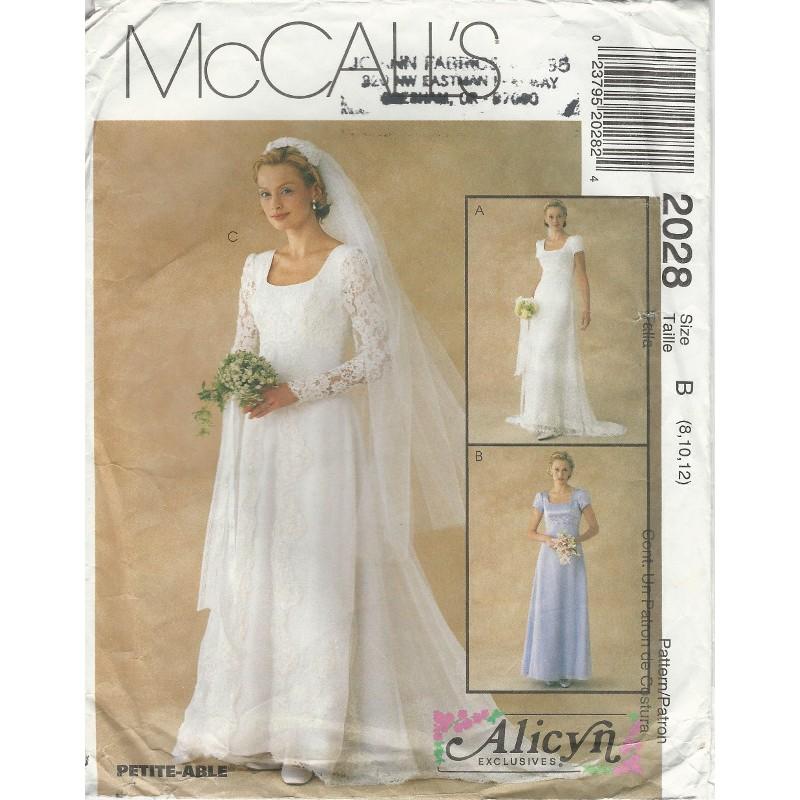 Wedding Dress Pattern Alicyn 2028
