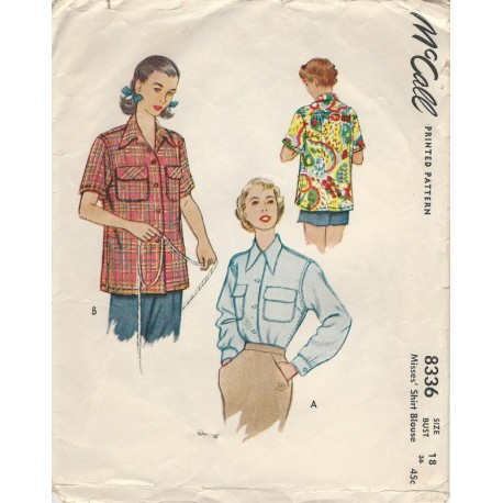 1950s Womens Shirt 8336 Casual