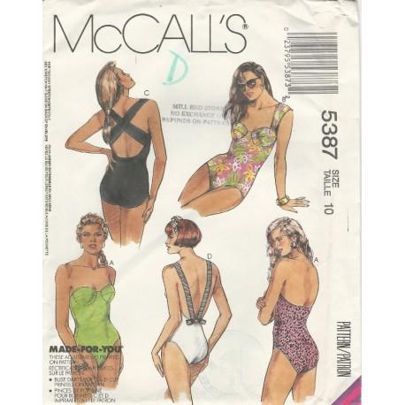 Womens Swimsuit Pattern 5387