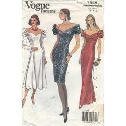 Evening Dress Pattern 7958 Vogue