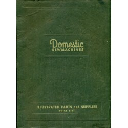 Domestic Sew Machine Parts Book