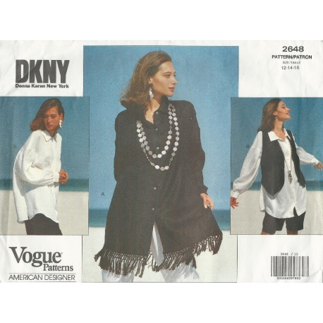 Vogue Pattern 2648 DKNY Shirt