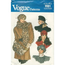 Hat Muff Pattern Vogue 9981