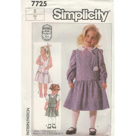 Girls Dress Pattern Gunne Sax 7725