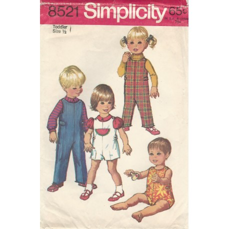 Child Jumpsuit Blouse Pattern 8521
