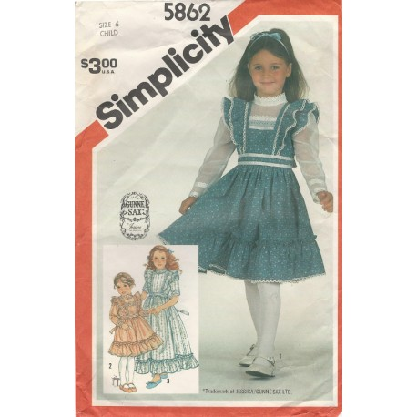 Girls Gunne Sax Dress Pattern 5862