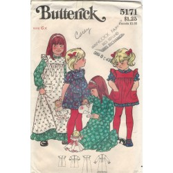Girls Dress Butterick Pattern 5171