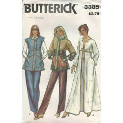 Jacket Vest Sew Pattern 3385