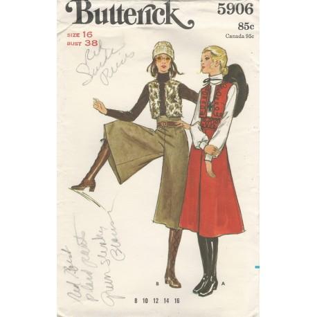 Goucho Pants Vest Sew Pattern 5906