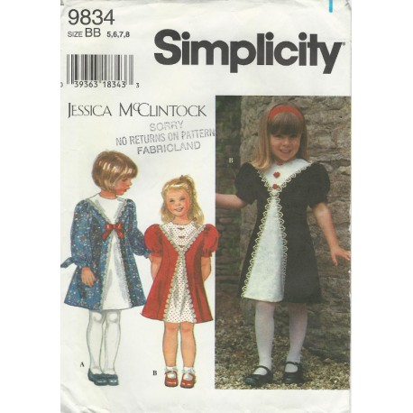 Pattern Girls Dress McClintock 9834