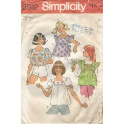 Girls Blouse Sewing Pattern 6912
