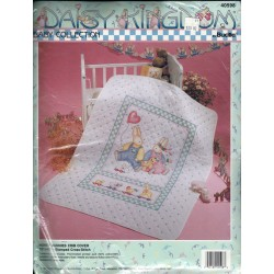 Cross Stitch Crib Cover Kit Bucilla