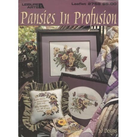 Cross Stitch Patterns Pansies 2758