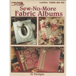 No Sew Fabric Album Patterns 1522