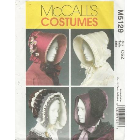 Historical Bonnet Sew Pattern 5129