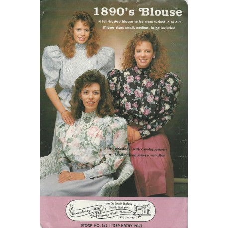 1890s Blouse Sewing Pattern 142