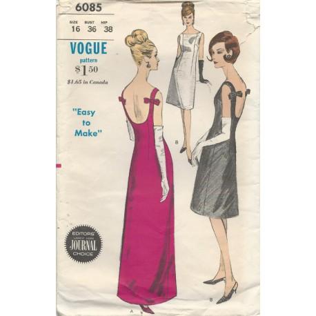 Vogue Evening Dress Pat 6085