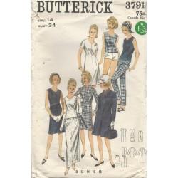 Butterick Wardrobe Pat 1960s 3791