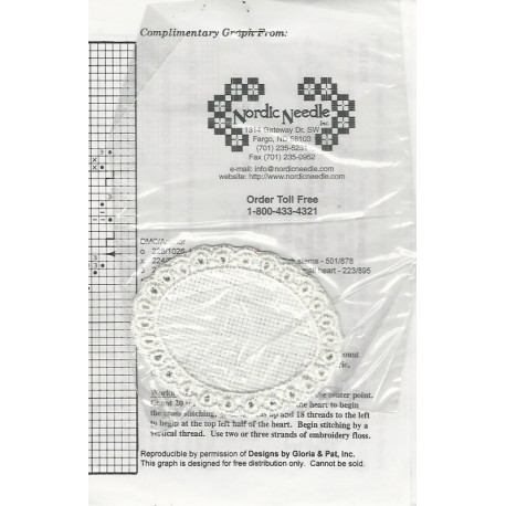 Hardanger Embroidery Pattern Heart