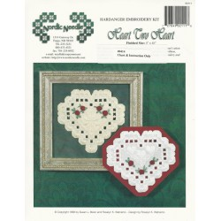Heart Two Heart Hardanger Pattern