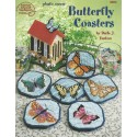 Plastic Canvas Butterfly Coasters