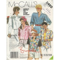 McCalls 2402 Womens Shirt Pattern