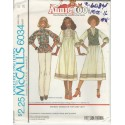 Dress Top Vest Pattern McCalls 6034