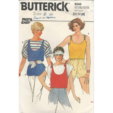 Womens Top T-Shirt Pattern 6543
