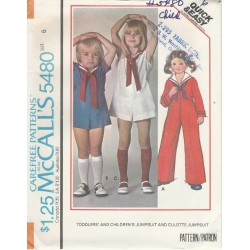 Childs Sailor Suit Pattern 5480