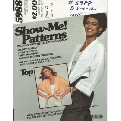 1970s Coverup Jacket Pattern 5988