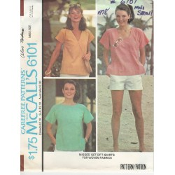 McCalls T-Shirt Pattern 6101 1970s