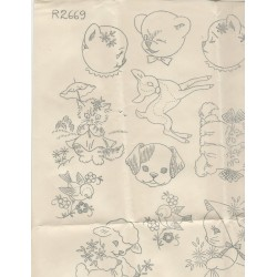 Needlework Arts Transfers R2669
