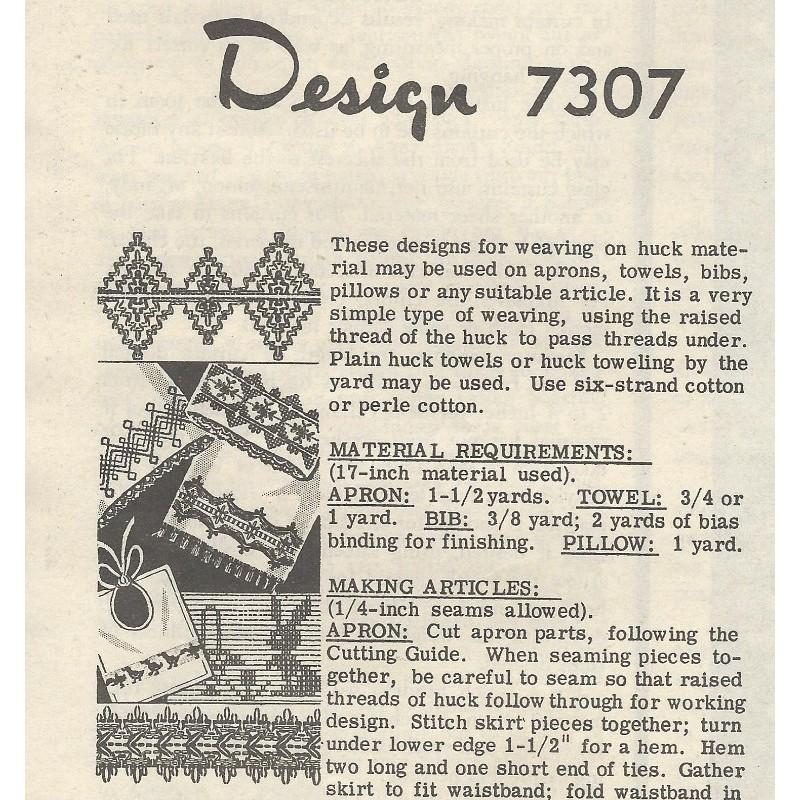 Huck Embroidery Pattern 7307 Angel Elegance Vintage