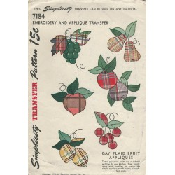 Gay Plaid Applique Transfers 7184