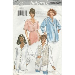 Womens Shirt Pattern Butterick 3324