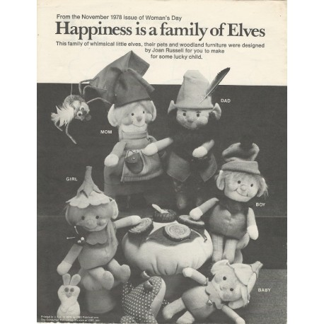 1970s Elf Pattern Women's Day
